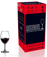 "Набор бокалов 8 шт. Riedel ""OUVERTURE"" Pay 6 Get 8 Magnum 530 ml"