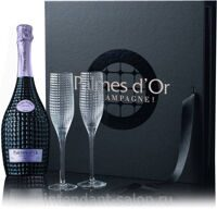"Шампанское Nicolas Feuillatte ""Palmes D'Or"" Brut 2004 Coffret with 2 Glasses"