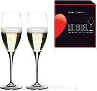 "Набор бокалов 2 шт. Riedel ""Heart to Heart"" Champagne 330 ml"